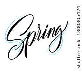 spring lettering web banner... | Shutterstock .eps vector #1300305424