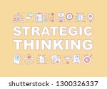 strategic thinking word...