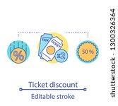 ticket discount sale concept...   Shutterstock .eps vector #1300326364