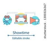 showtime concept icon. theatre...   Shutterstock .eps vector #1300326367