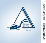 scuba diving. underwater... | Shutterstock .eps vector #1300343821