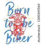 vector illustration of a biker... | Shutterstock .eps vector #1300345564