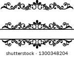 split monogram frame vector... | Shutterstock .eps vector #1300348204