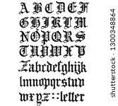 font type alphabet | Shutterstock .eps vector #1300348864