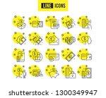 money line icons. set of update ... | Shutterstock .eps vector #1300349947