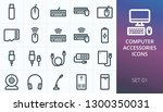 computer accessories icons set. ...   Shutterstock .eps vector #1300350031