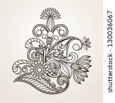floral pattern hand drawing... | Shutterstock .eps vector #130036067