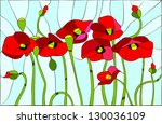 Composition With Poppies....