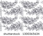 seamless pattern with graphic... | Shutterstock .eps vector #1300365634