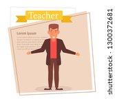 teacher or businessman... | Shutterstock .eps vector #1300372681