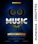 music night party template or... | Shutterstock .eps vector #1300379701