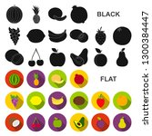 different fruits flat icons in... | Shutterstock . vector #1300384447