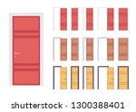 doors modern set  entrance to a ... | Shutterstock .eps vector #1300388401