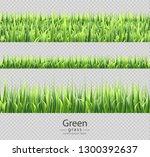 green grass set collection... | Shutterstock .eps vector #1300392637