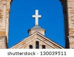 Cross on old Kaarli church. Tallinn. Estonia - stock photo