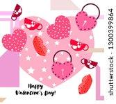 valentine's day  mug  lock ...   Shutterstock .eps vector #1300399864