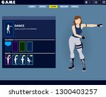 fortnite game woman character... | Shutterstock .eps vector #1300403257