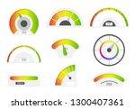speedometer icons. credit score ... | Shutterstock .eps vector #1300407361
