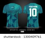 sports jersey template for team ...   Shutterstock .eps vector #1300409761