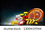 casino element isolation on the ... | Shutterstock . vector #1300419544