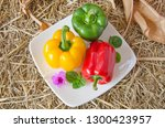 beautiful sweet peppers in... | Shutterstock . vector #1300423957