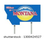 welcome to montana road sign | Shutterstock .eps vector #1300424527