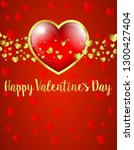 valentines day card  gold and... | Shutterstock .eps vector #1300427404