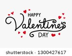 valentine's day decoration with ... | Shutterstock .eps vector #1300427617