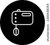 vector food mixer icon    Shutterstock .eps vector #1300438354