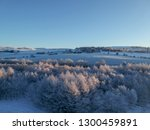 early morning on a winters... | Shutterstock . vector #1300459891