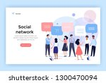social network concept... | Shutterstock .eps vector #1300470094