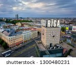 riga   june  20  aerial view of ... | Shutterstock . vector #1300480231