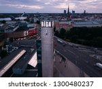 riga   june  20  aerial view of ... | Shutterstock . vector #1300480237
