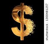 fractured gold dollar value... | Shutterstock . vector #1300481257
