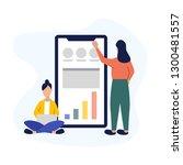 vector business illustration.... | Shutterstock .eps vector #1300481557