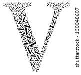 v alphabet cloud collage with... | Shutterstock . vector #130048607