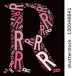 r alphabet cloud collage with... | Shutterstock . vector #130048841