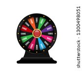 realistic 3d spinning fortune... | Shutterstock .eps vector #1300498051