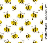 seamless pattern with cute... | Shutterstock .eps vector #1300508194