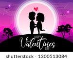 happy valentine's day ... | Shutterstock .eps vector #1300513084
