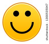 yellow smiling face cheerful... | Shutterstock .eps vector #1300535047