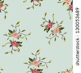 seamless floral pattern with... | Shutterstock .eps vector #130053689