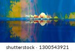 colorful abstract painting... | Shutterstock . vector #1300543921