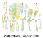 colorful abstract background.... | Shutterstock . vector #1300543981