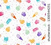 delicious dessert pattern   Shutterstock .eps vector #1300544251
