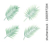 tropical leaves vector | Shutterstock .eps vector #1300597204