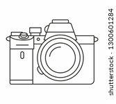 full frame mirrorless camera... | Shutterstock .eps vector #1300601284