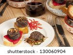 mixed spanish tapas with... | Shutterstock . vector #130060904