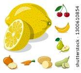 isolated object of vegetable... | Shutterstock .eps vector #1300610854
