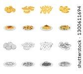 vector design of pasta and... | Shutterstock .eps vector #1300611694